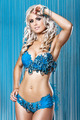 Young sexy woman in blue diamonds and feathers bikini - PhotoDune Item for Sale
