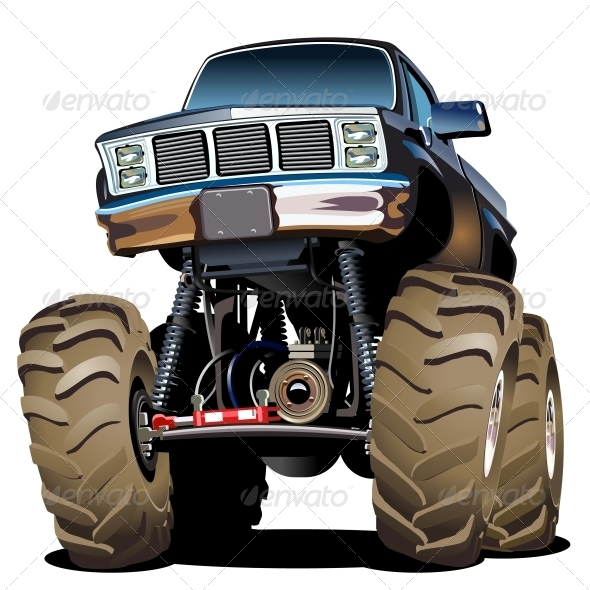 GraphicRiver Cartoon Monster Truck 4679983