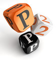 P2p orange black dice blocks - PhotoDune Item for Sale