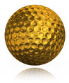 golden golf ball on white background - PhotoDune Item for Sale