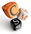 cms orange black dice blocks - PhotoDune Item for Sale