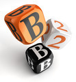 b2b orange black dice blocks - PhotoDune Item for Sale