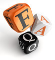 Faq orange black dice blocks - PhotoDune Item for Sale