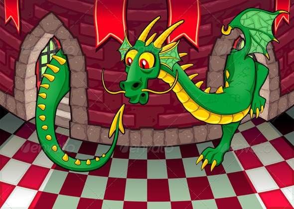 GraphicRiver Inside the Castle with Dragon 4680168