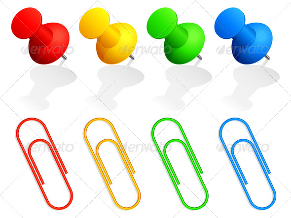 GraphicRiver Pins and Paper Clips 4680228