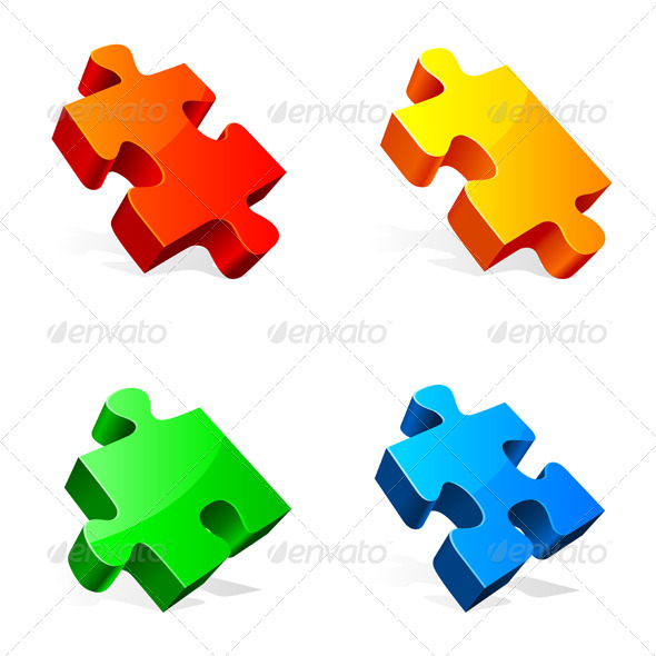 Puzzle Pieces - Objects Vectors