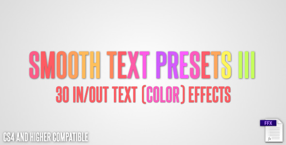 Smooth Text Presets III