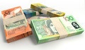 Australian Dollar Notes Bundles Stack - PhotoDune Item for Sale
