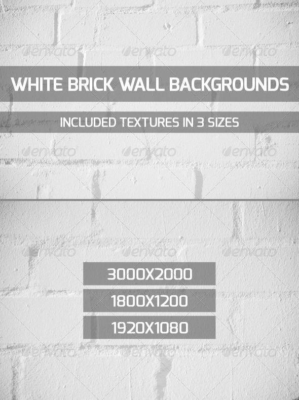GraphicRiver White Brick Wall Backgrounds 4680821