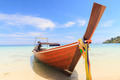 Boat on the beach with blue sky - PhotoDune Item for Sale