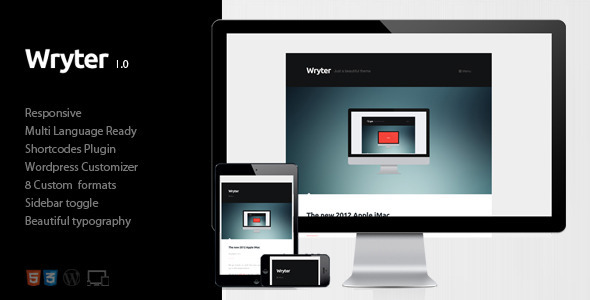 ThemeForest Wryter Simple Personal Blog 4658082