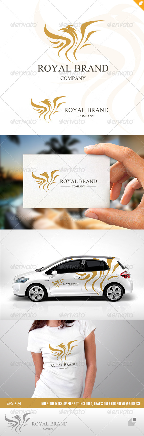 GraphicRiver Eagle Royal Brand Logo 4681036