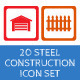 20 Steel Construction Icons