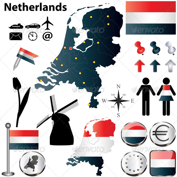 GraphicRiver Map of the Netherlands 4681147