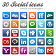49 Modern Social Icons - GraphicRiver Item for Sale