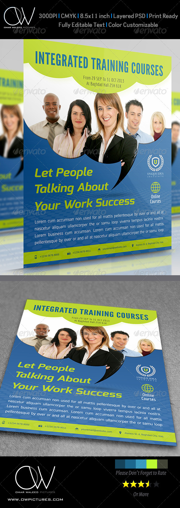GraphicRiver Corporate Training Flyer Vol.7 4608911