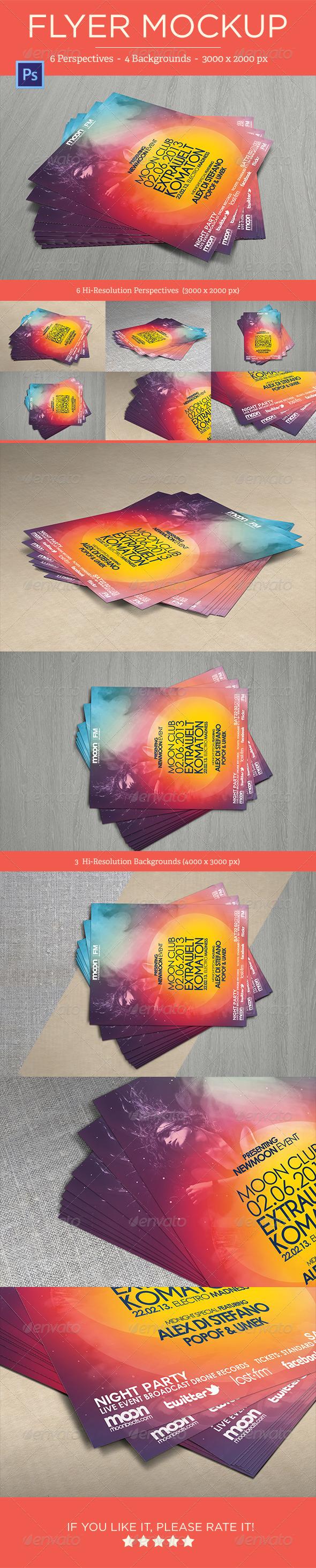 GraphicRiver Flyer Mock-Ups Vol 1 4681775
