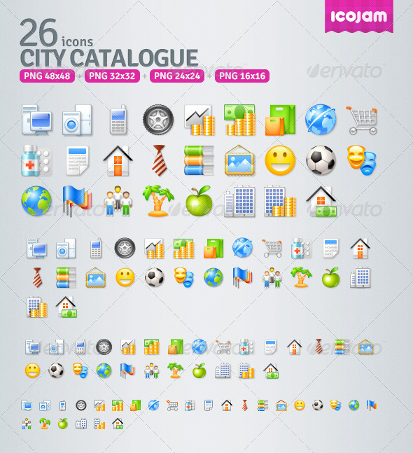 GraphicRiver 29 Catalogue icons 4681777
