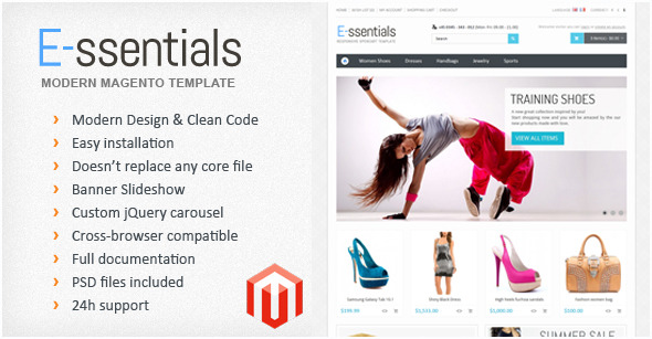 E-ssentials - Multipurpose Magento Template
