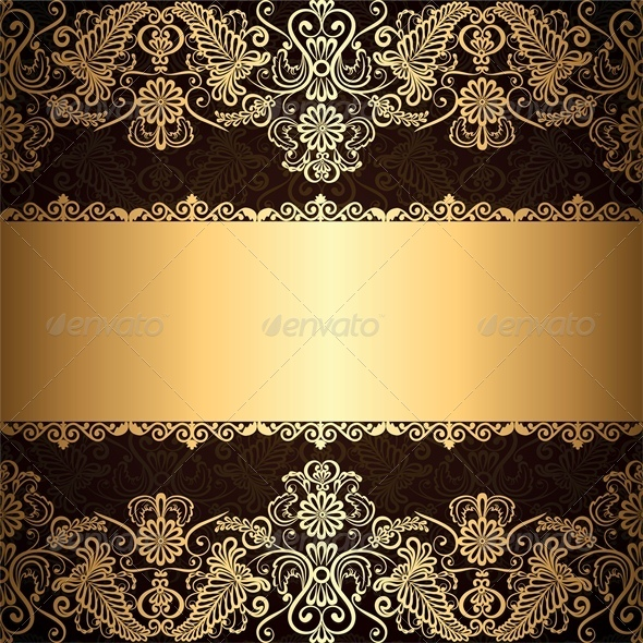GraphicRiver Background with Gold Jewelry Frame 4681959