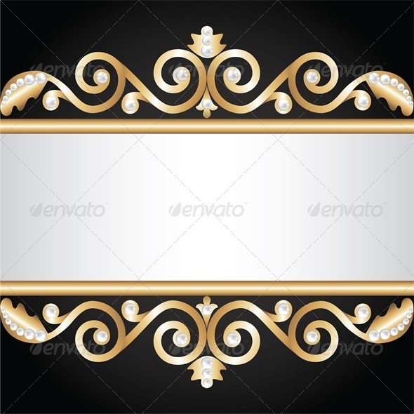 GraphicRiver Background with Gold Jewelry Frame 4682023