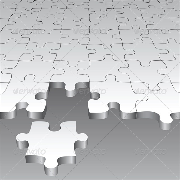 GraphicRiver Background with Puzzle Pieces 4682033