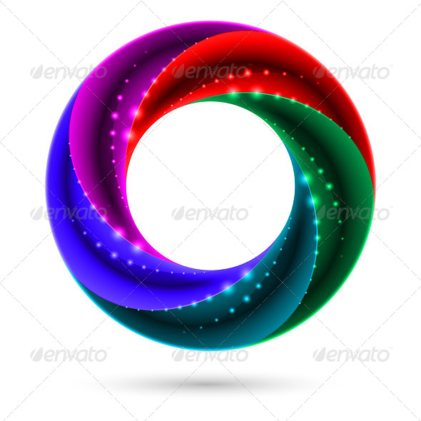 GraphicRiver Colorful Spiral Ring 4682038