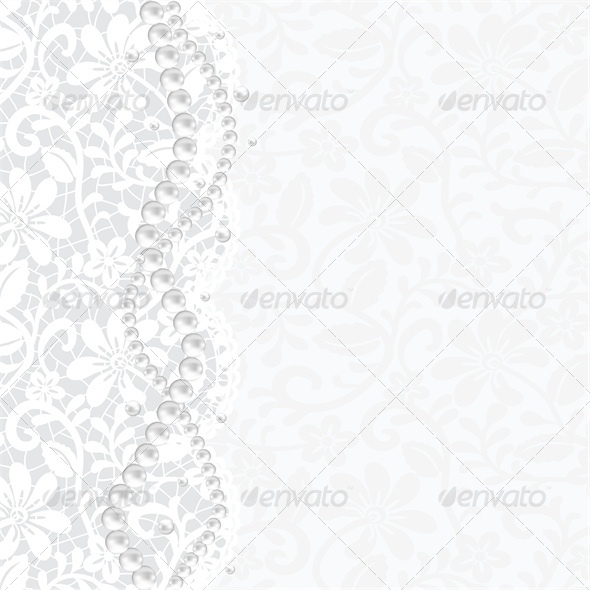 GraphicRiver Wedding Invitation or Greeting Card with Lace 4682040
