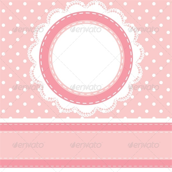 GraphicRiver Baby Shower Card with Polka Dot Background 4682043