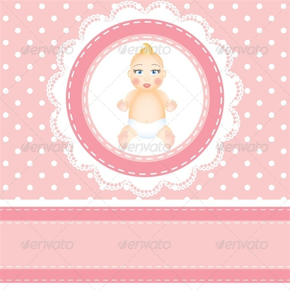 GraphicRiver Baby Shower Card with Polka Dot Background 4682046