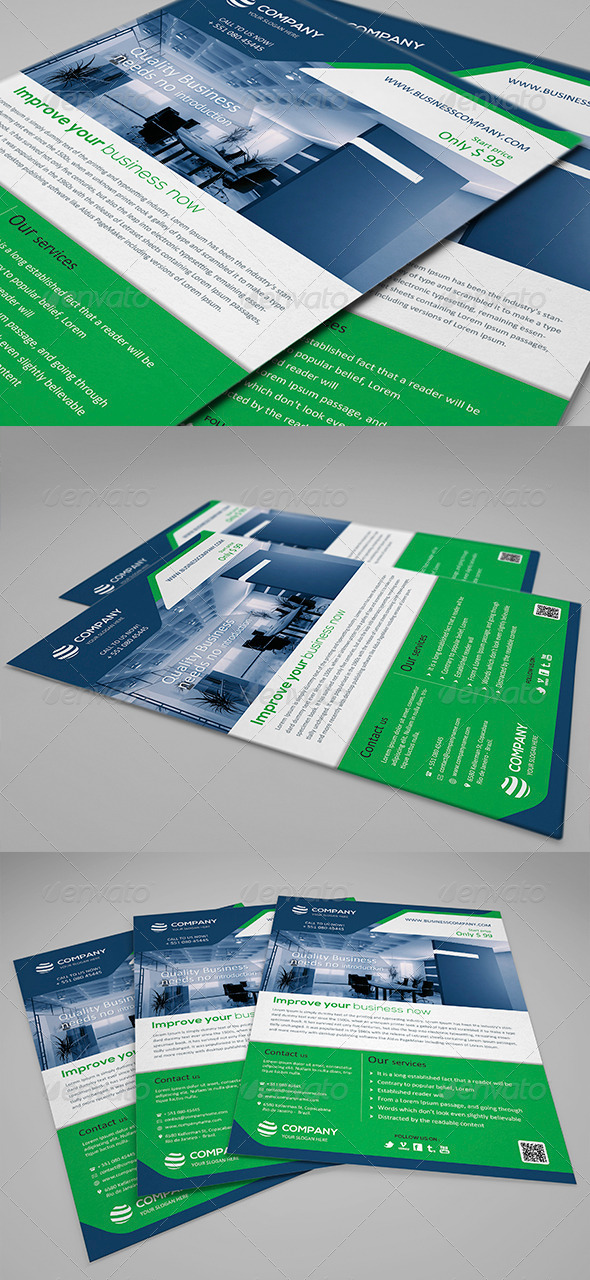 GraphicRiver Smart Corporate Flyer Template 001 4682064