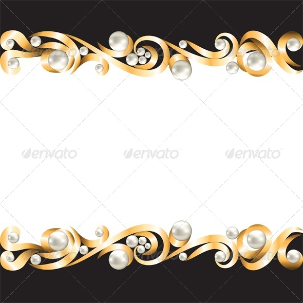 GraphicRiver Background with Gold Jewelry Frame 4682065