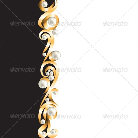 GraphicRiver Background with Gold Jewelry Frame 4682068