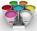 open buckets with a paint and rollers - PhotoDune Item for Sale