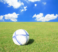 Soccer ball on green field - PhotoDune Item for Sale