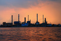 Refinery plant area at twilight - PhotoDune Item for Sale