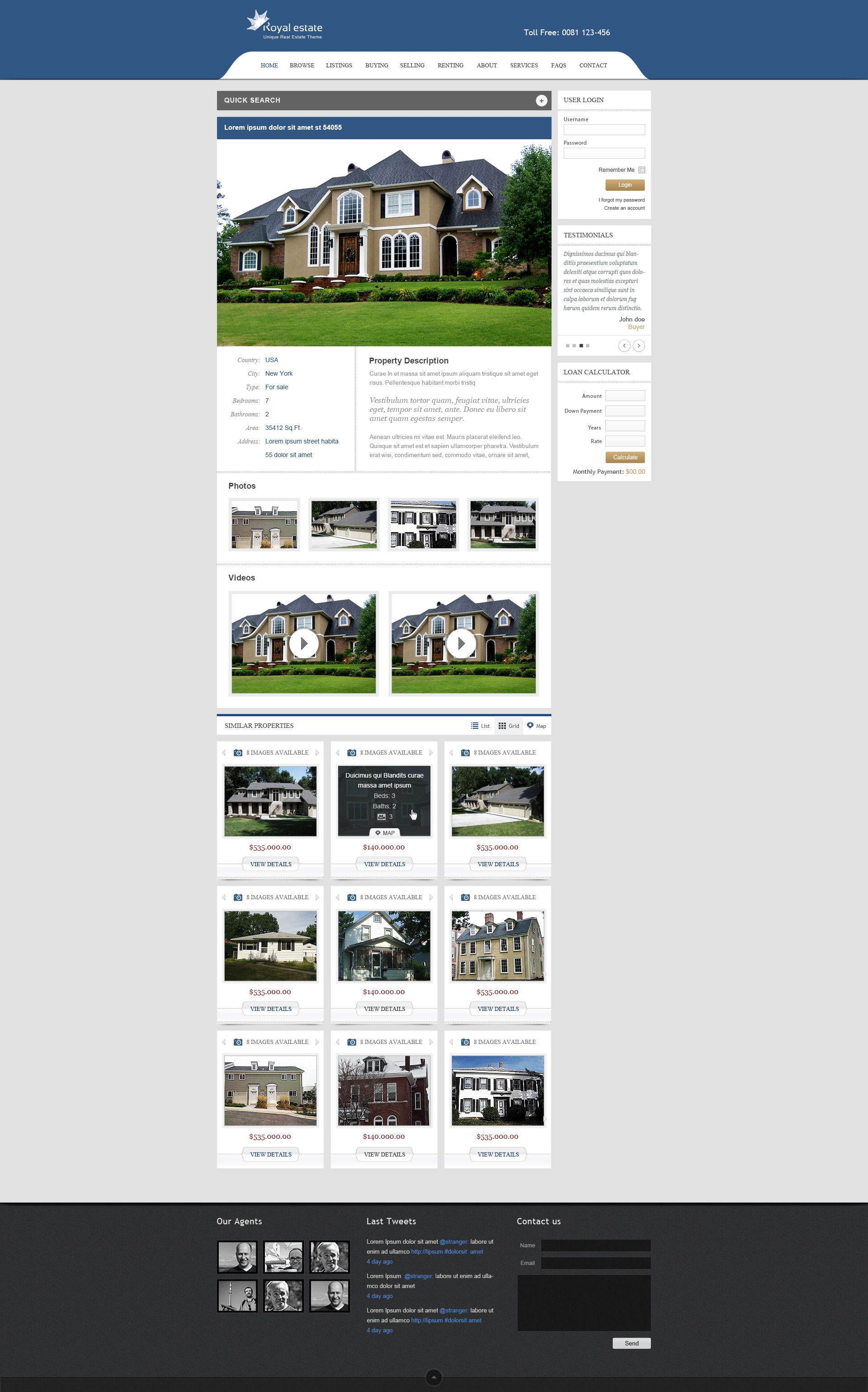 Royal Estate - Premium Wordpress Real Estate Theme