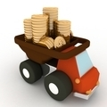 toy truck loaded with coins - PhotoDune Item for Sale