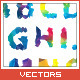 Download Vector Colorful Polygon Font