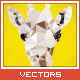 Triangled Giraffe Portrait - GraphicRiver Item for Sale
