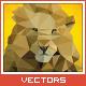 Triangled Lion Portrait - GraphicRiver Item for Sale