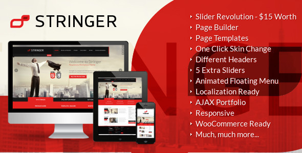 ThemeForest Stringer Responsive WordPress Theme 4617118