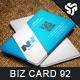Business Card Design 92 - GraphicRiver Item for Sale