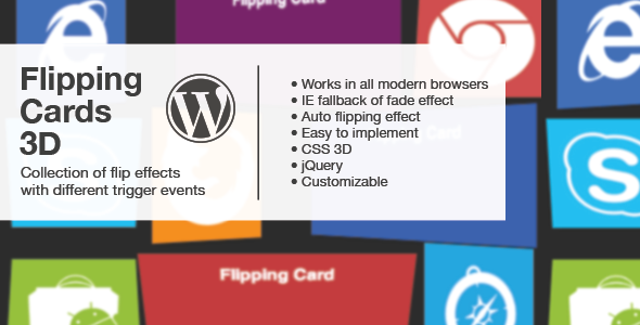 Flipping Cards 3D Wordpress