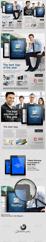 GraphicRiver Multipurpose Mobile App Flyer Template Vol.02 4684134