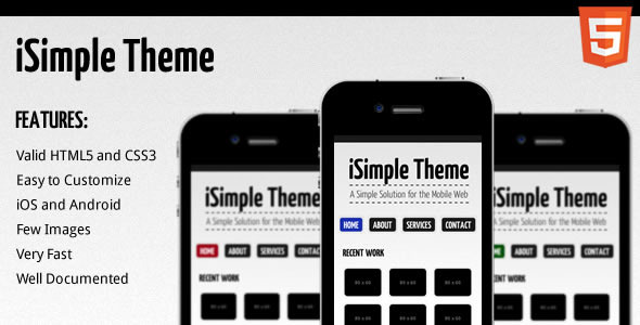 iSimple Theme - ThemeForest Item for Sale