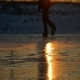 Ice Skater in Sunset 2 - VideoHive Item for Sale