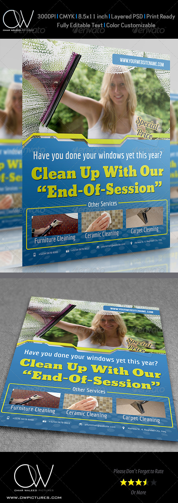 GraphicRiver Cleaning Services Flyer 4618964