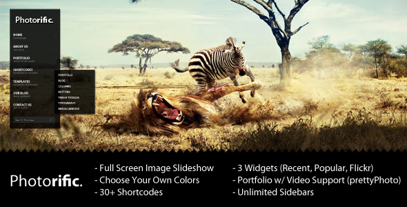 Photorific - Photography WordPress Theme - ThemeForest Item for Sale