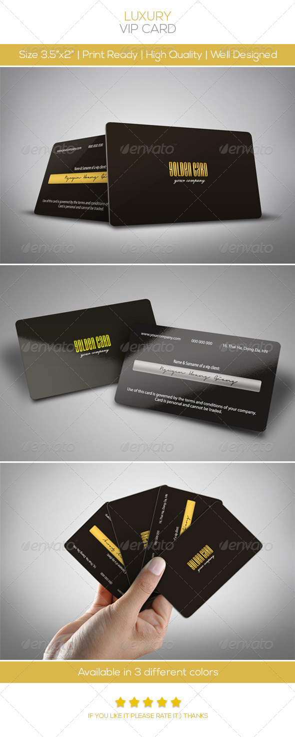 Luxury Vip Card - Loyalty Cards Cards & Invites